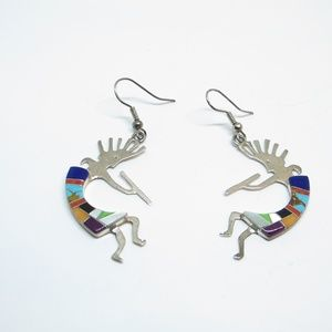 Jewelry - 925  silver kokopelli Native American Earrings